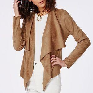 Zara faux suede Moto jacket - medium